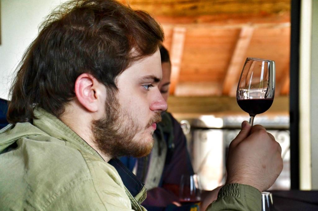 Degustazione di vini al Museo del Vino a Montecchio Emilia